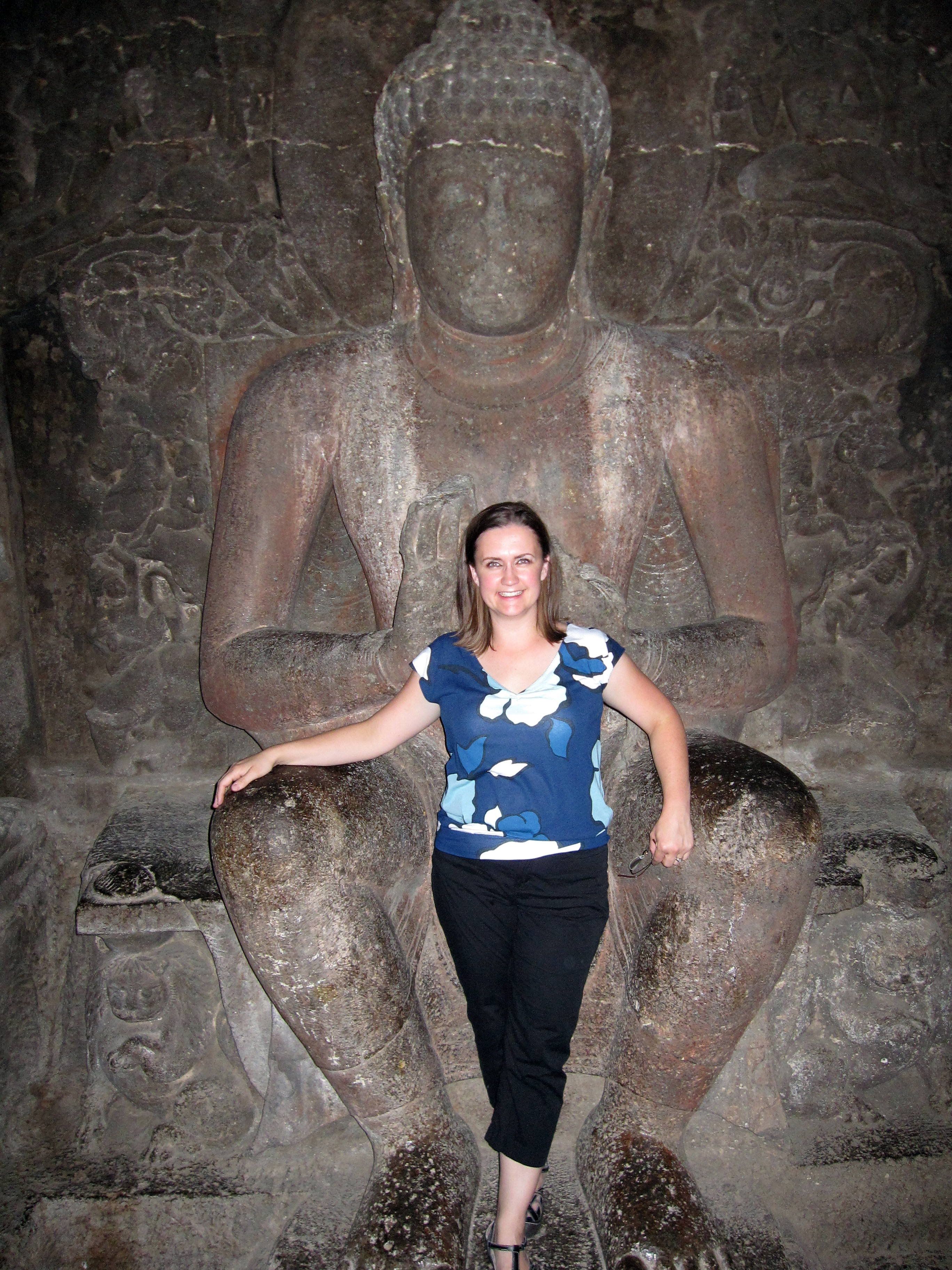 Me in the lap of the Buddha