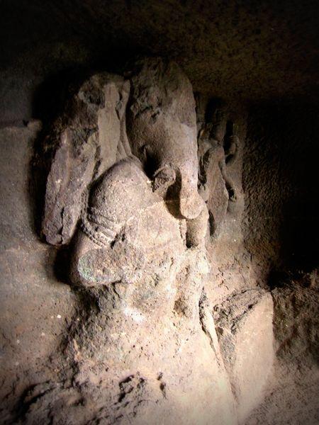 Aurangabad caves--ganesha statue